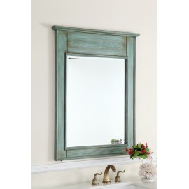 Abbeville Distressed Blue Mirror
